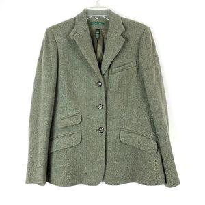 RALPH LAUREN Wool Blazer Horse Buttons sz 12